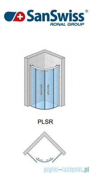 SanSwiss Pur Light S PLSR Kabina półokrągła z drzwiami rozsuwanymi 100cm PLSR501000407