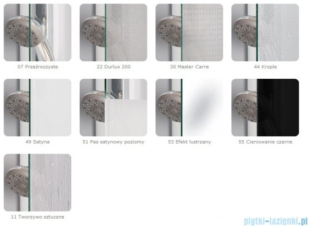 SanSwiss Top-Line TOPS3 Drzwi 3-częściowe 100cm profil srebrny TOPS310000107