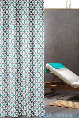 Sealskin Diamonds Aqua zasłona prysznicowa tekstylna 180x200cm 235201330
