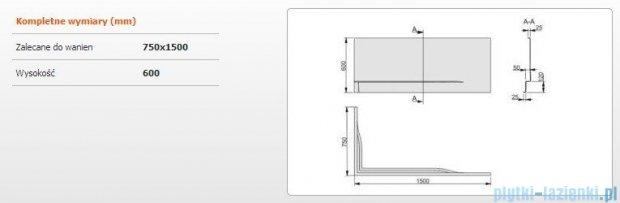 Sanplast Obudowa do wanny Free Line prawa, OWPLP/FREE 75x150 cm 620-040-0260-01-000