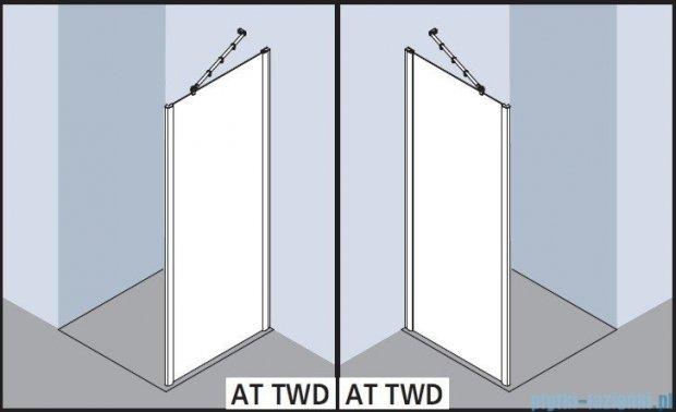 Kermi Atea Ściana boczna, szkło przezroczyste, profile białe 100x200cm ATTWD100202AK
