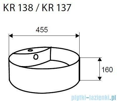 Novoterm Kerra Umywalka nablatowa okrągła 46cm KR 137 z dekorem