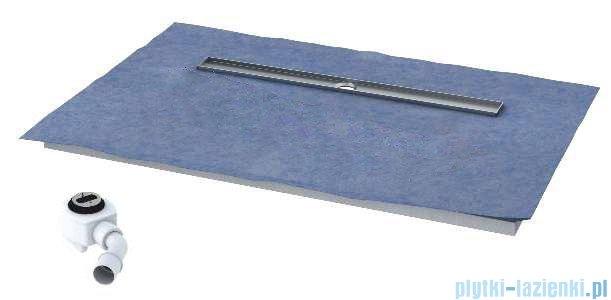 Schedpol brodzik posadzkowy podpłytkowy z odpływem chrom 100x80x5cm 10.007/OLDB/CH