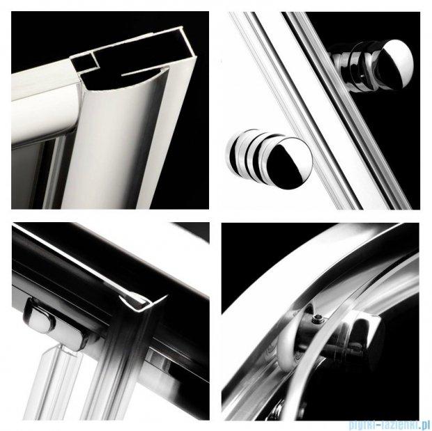 Radaway Classic C Kabina prysznicowa kwadratowa z drzwiami przesuwnymi 80x80 szkło przejrzyste profile białe 30060-04-01