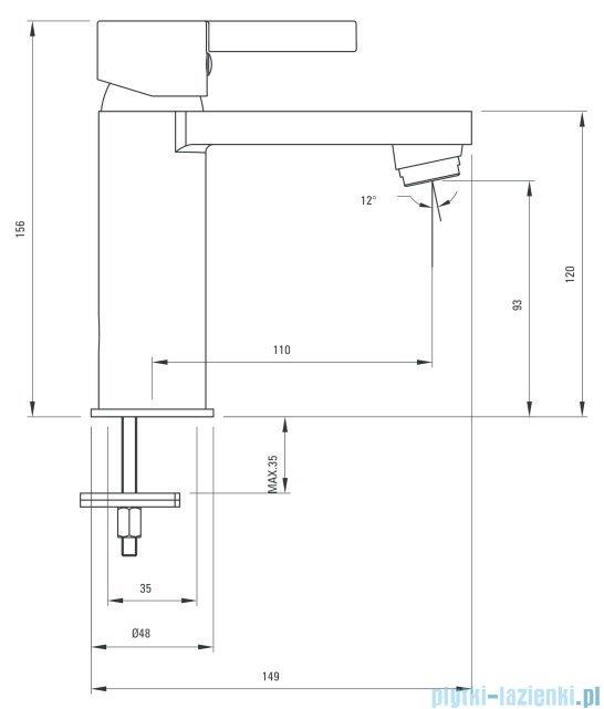 Deante Floks bateria umywalkowa stojąca chrom BCF 021M
