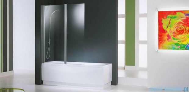 Novellini Parawan Aurora2 120x150cm profil chrom szkło aqua AURORAN2-2K