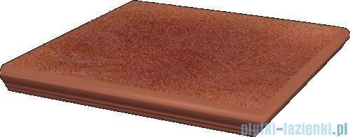Paradyż Taurus rosa klinkier stopnica z kapinosem narożna 33x33