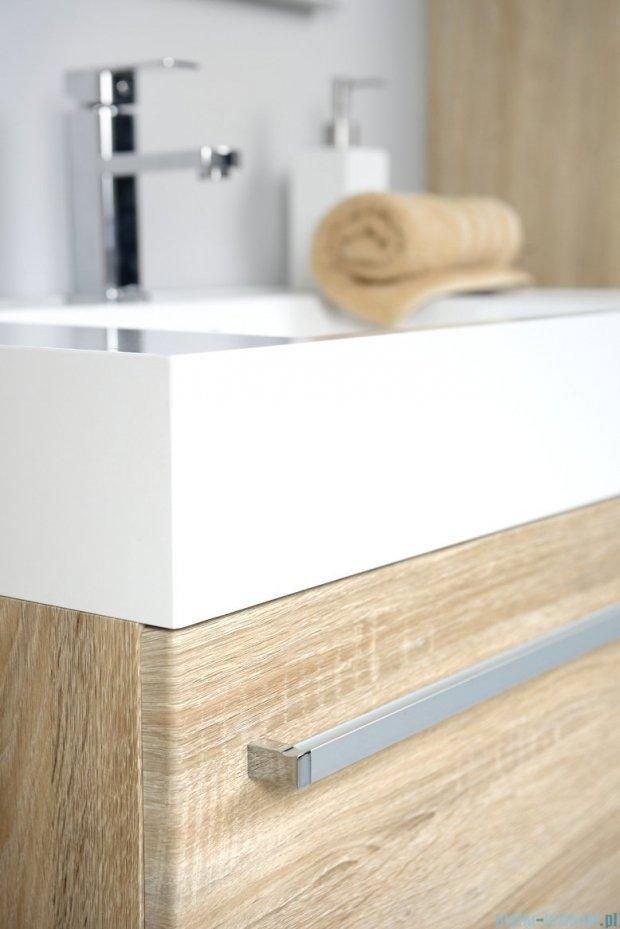 Antado Spektra szafka z umywalką, wisząca 70x50x33 dąb Samba FDF-442/7GT-62 + UNA-700