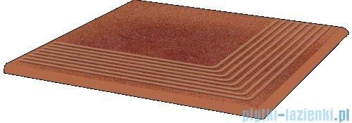 Paradyż Taurus rosa klinkier stopnica narożna 30x30