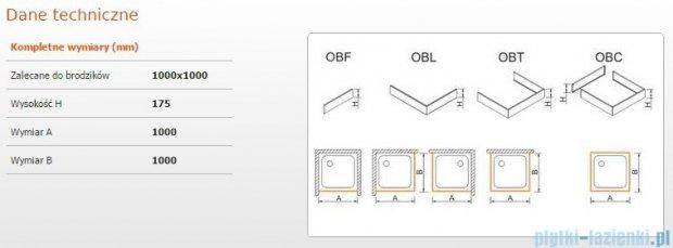 Sanplast Obudowa do brodzika OBL 100x100x17,5 cm 625-403-1040-01-000