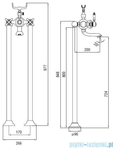 Art Platino Nikolas bateria wannowa podłogowa chrom NIK-BWP.090C