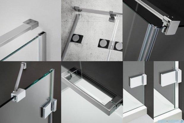 Radaway Euphoria DWJ Drzwi wnękowe 100 prawe szkło przejrzyste + brodzik Delos C + syfon 383014-01R/SDC1010-01