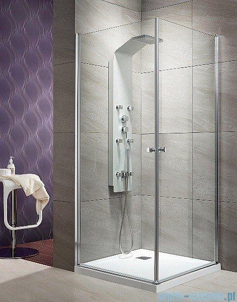 Radaway Eos KDD kabina prysznicowa 100x100 szkło intimato + Brodzik Delos C + syfon 37223-01-12N