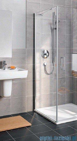 Kermi Gia XP Ściana boczna, lewa, szkło przezroczyste, profile srebrne 90x185cm GXTWL09018VAK