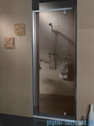 Omnires drzwi prysznicowe 80cm szkło brązowe S-80DBR