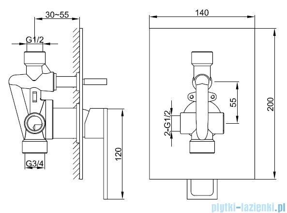 Kohlman Nexen zestaw prysznicowy chrom QW210UQ40