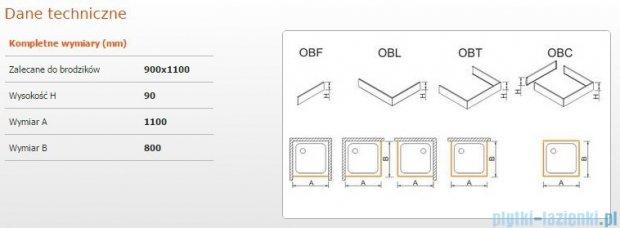 Sanplast Obudowa brodzika OBL 90x110x9 cm 625-400-1540-01-000