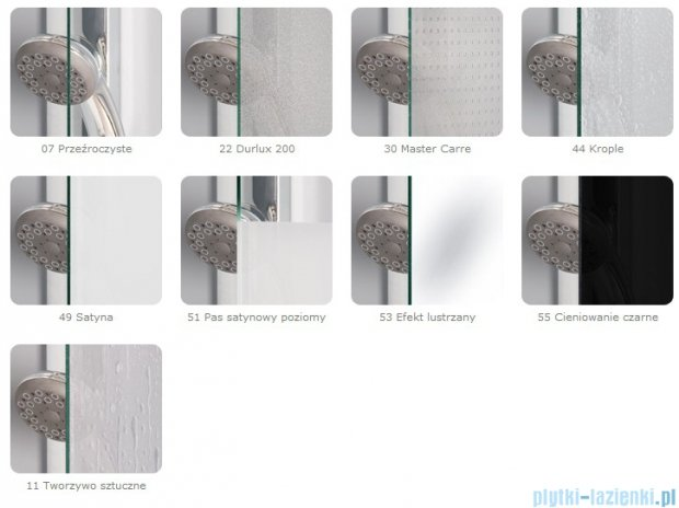 SanSwiss Top-Line TOPAC Wejście narożne 90-120cm profil srebrny Prawe TOPDSM20107