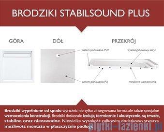 Schedpol Corrina Brodzik akrylowy asymetryczny lewy 85x120x3/6cm 3.073