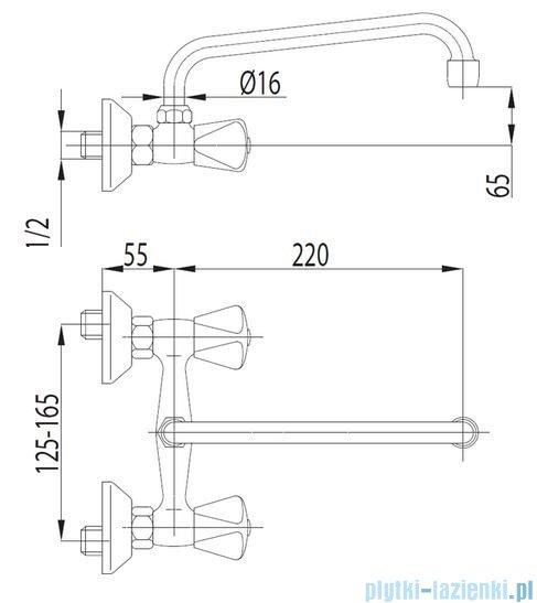 KFA STANDARD Bateria umywalkowa ścienna 300-510-00