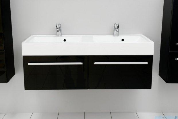 Antado Variete szafka z umywalką, wisząca 120 czarny połysk FM-442/6GT-9017 + FM-442/6GT-9017 + UNAM-1204D