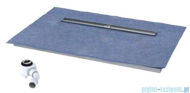 Schedpol brodzik posadzkowy podpłytkowy z odpływem Circle 120x80x5cm 10.008/OLDB/CE
