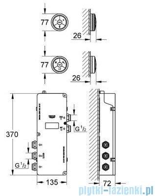 Grohe Veris F-digital Elektroniczny sterownik i przełącznik prysznicowy chrom 36295000