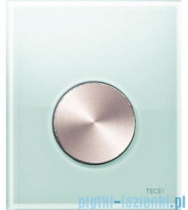 Tece Przycisk spłukujący ze szkła do pisuaru Teceloop szkło zielone, przycisk stal szczotkowana 9.242.662