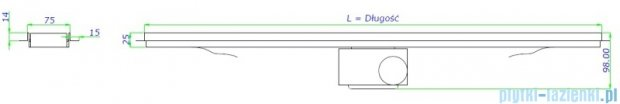 Green Line odpływ liniowy 80 cm ruszt sunny + syfon GL800SU