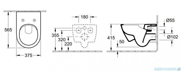 Villeroy&Boch Subway 2.0 Miska ustępowa lejowa bez kołnierza wewnętrznego   5614R001