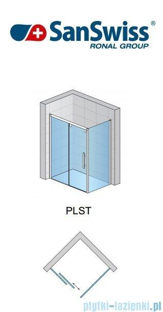SanSwiss Pur Light S PLST SM Ścianka boczna 25-80cm profil połysk szkło przejrzyste PLSTSM25007