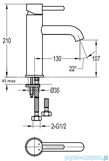 Omnires Y Bateria umywalkowa wysoka chrom Y1213MAX