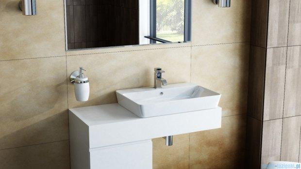 Antado Combi szafka lewa z blatem i umywalką Bali biały/jasne drewno ALT-141/45-L-WS/dn+ALT-B/2C-1000x450x150-WS+UCS-TC-65