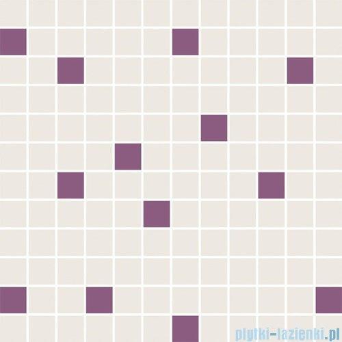 Paradyż Luciola ecru/viola mozaika 29,8x29,8