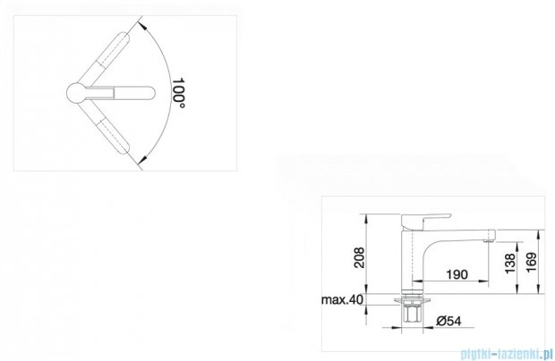 Blanco Pylos bateria wysokociśnieniowa kolor: chrom  512985