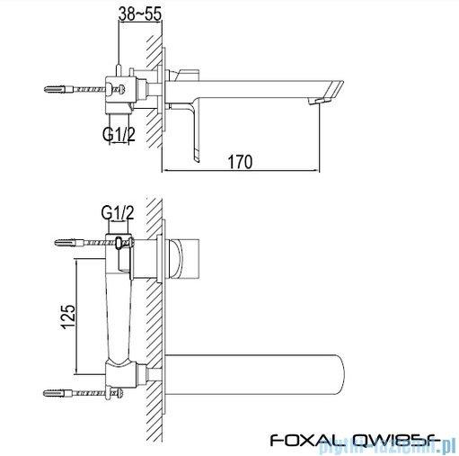Kohlman Foxal Podtynkowa bateria umywalkowa QW185F