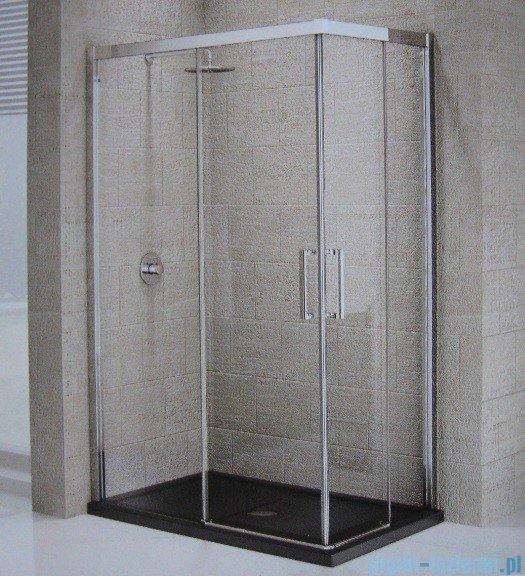 Novellini ElysiumŚcianka prysznicowa KUADRA A 117 lewa szkło przejrzyste profil chrom KUADA117LS-1K