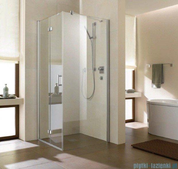 Kermi Diga Ściana boczna, szkło przezroczyste, profile srebrne 90x200cm DITWD09020VAK