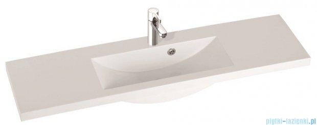 Marmorin umywalka nablatowa Talia 120, 120 cm z otworem biała 270120022011