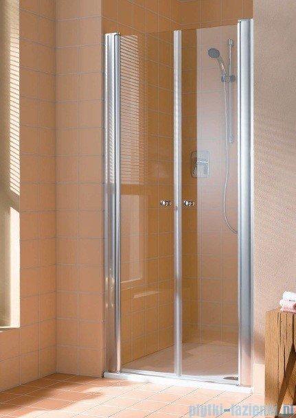Kermi Atea Drzwi wahadłowe, szkło przezroczyste, profile srebrne 95cm ATPTD09518VAK
