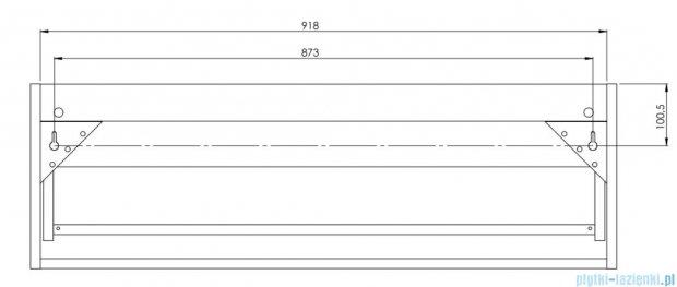 Antado Susanne szafka z umywalką Mia biała/blat szary 95x46cm AS-140/95-WS+AS-B/1-140/95-74+UCS-TC-60