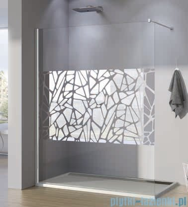 SanSwiss Walk-in Pur PDT4P Kabina 100x200cm szkło dekor kamienie PDT4P1001064