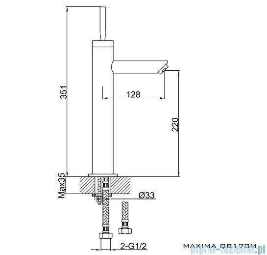 Kohlman Maxima Bateria umywalkowa wysoka QB170M