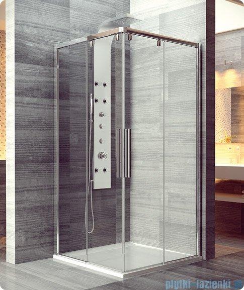 SanSwiss Pur Light S PLSE2 Drzwi narożne rozsuwane 70cm profil biały szkło przejrzyste Lewe PLSE2G0700407