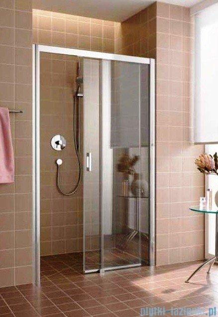 Kermi Atea Drzwi przesuwne bez progu, prawe, szkło przezroczyste KermiClean, profile srebrne 110x185 ATD2R11018VPK
