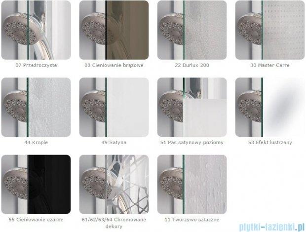 Sanswiss Melia MET3 Ścianka prawa z uchwytami kątowymi 90-140/do 200cm krople  MET3WDSM21044
