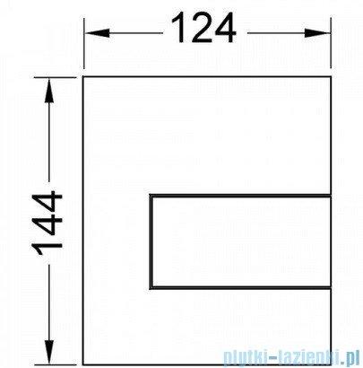 Tece Przycisk spłukujący do pisuaru z metalu Tecesquare stal szlachetna szczotkowana 9.242.810