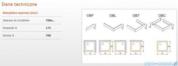 Sanplast Obudowa frontowa do brodzika OBF 70x17,5 cm 625-403-0110-01-000