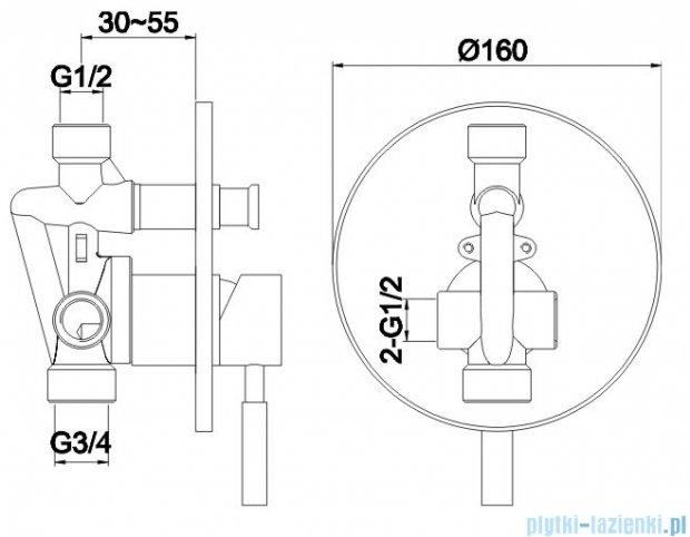 Kohlman Roxin zestaw prysznicowy chrom QW210RR35