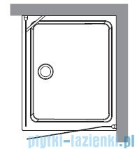 Kerasan Retro Kabina prostokątna lewa szkło dekoracyjne przejrzyste profile złote 80x96 9143N1
